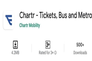 Delhi Chartr Mobile App Online Bus & Metro E Ticket Booking