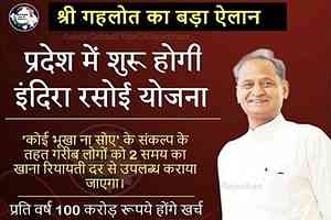 Rajasthan Indira Rasoi Yojana 2020 in Hindi