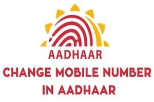 Change Update Link Mobile Number in Aadhaar Card