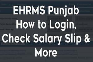 HRMS Punjab Salary Slip Payslip Download