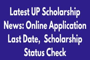 UP Scholarship Pre Post Matric Registration & Status