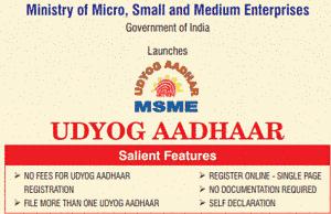 Udyog Aadhar MSME Registration Fees Benefits